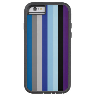 Vertical Stripes In Winter Colors Tough Xtreme iPhone 6 Case