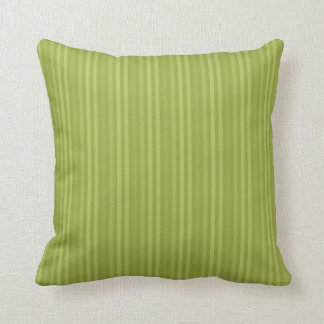 Vertical Stripes Pattern Olive Green Cushion