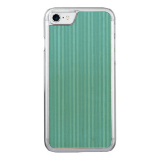 Vertical Stripes Pattern Turquoise Teal Carved iPhone 7 Case