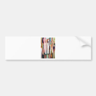 Vertical Sweet Oozing (abstract expressionism) Bumper Sticker