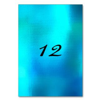 Vertical Table Number Beach Ocean Blu Turquoise