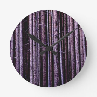 vertical tree lines round clock