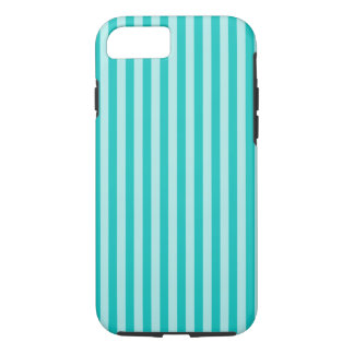 Vertical Turquoise Scrapbook Stripes Pattern iPhone 7 Case