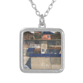 Vertical Village @ Phnom Penh Silver Plated Necklace