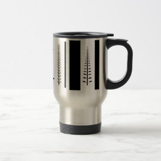 Vertical Vines & Stripes Travel Mug