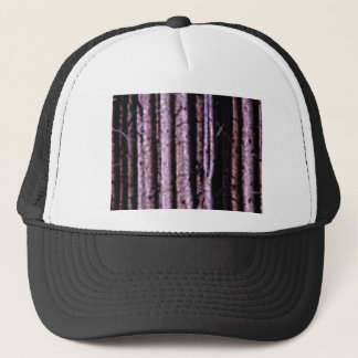 vertical wood lines trucker hat