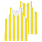 Vertical Yellow Stripes All-Over Print Singlet