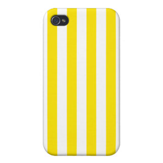 Vertical Yellow Stripes iPhone 4 Cover