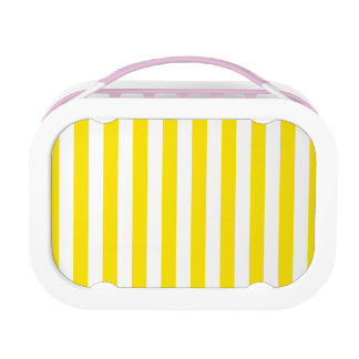 Vertical Yellow Stripes Lunch Box