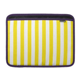 Vertical Yellow Stripes MacBook Sleeve