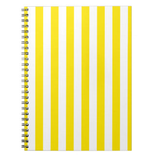 Vertical Yellow Stripes Notebook