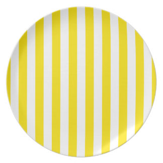 Vertical Yellow Stripes Plate