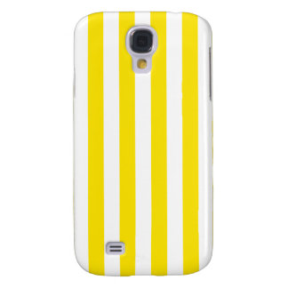 Vertical Yellow Stripes Samsung Galaxy S4 Cover