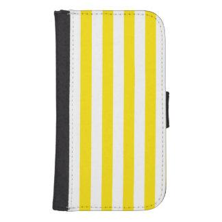 Vertical Yellow Stripes Samsung S4 Wallet Case