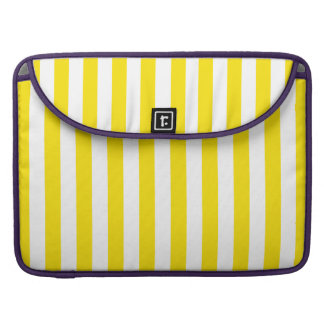 Vertical Yellow Stripes Sleeve For MacBook Pro