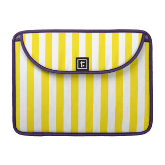 Vertical Yellow Stripes Sleeve For MacBooks