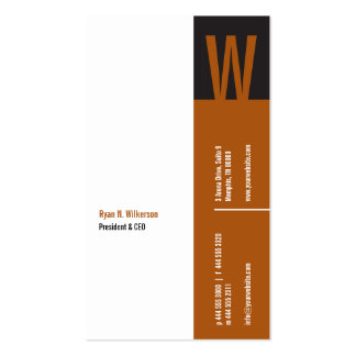 Verticality Monogram Business Card