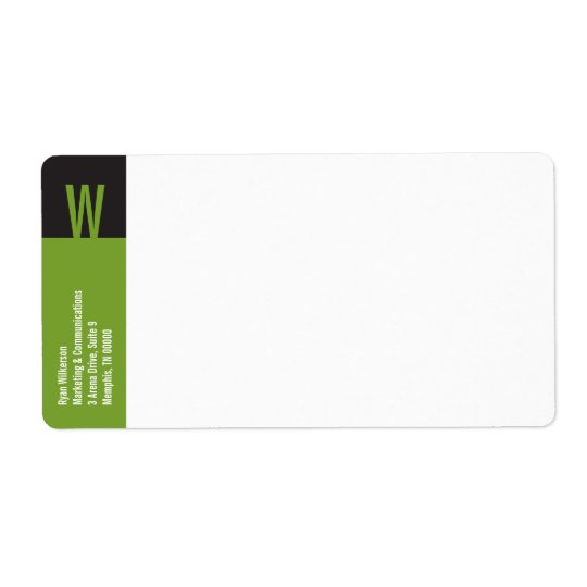 Verticality Monogram Shipping Label