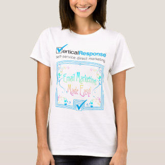 VerticalResponse Nouveau on White - Ladies T-Shirt
