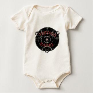 Vertigo Radio Live Circle Logo Red Baby Bodysuit