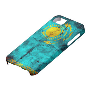 Verwitterte Kasachstan-Flagge iPhone 5 Case