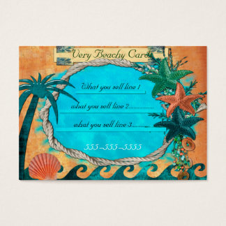 Very Beachey For Local BOUTIQUE BEACH Business Card