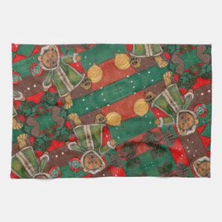 Very Beary Christmas Teddy Tea Towel