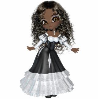 Very Beautiful African American Princess Magnet Standing Photo Sculpture