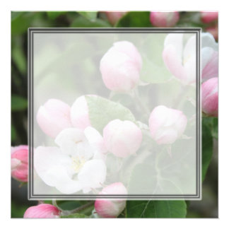 Very beautiful spring summer pink apple flowers personalized invitation