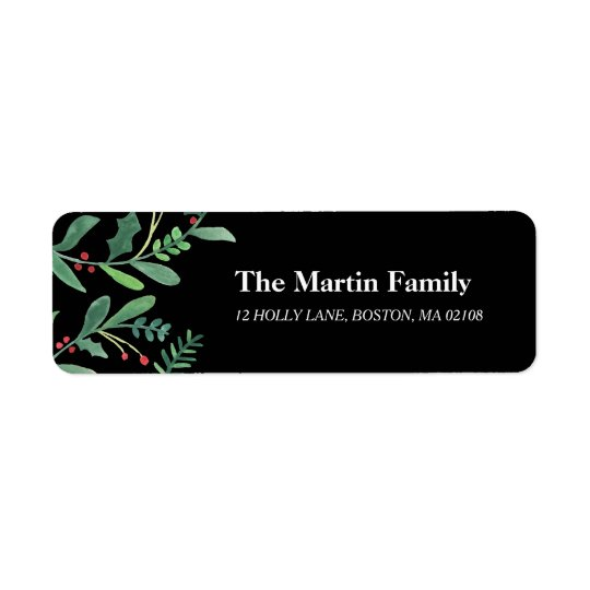 Very Berry Collection Return Address Label