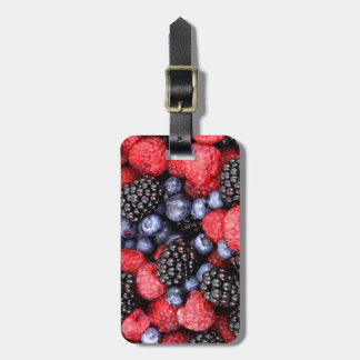 Very Berry Lover Blueberry Strawberry Blackberry Luggage Tag