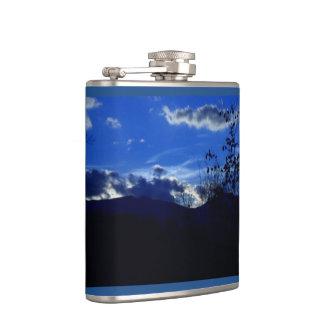 Very Blue Ridge Mountains Flask