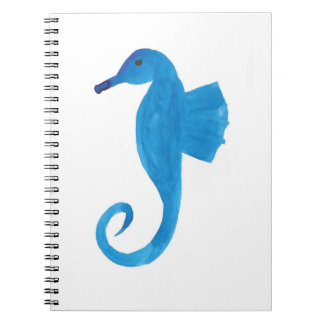 Very Blue Sea Horse Notebook