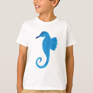 Very Blue Sea Horse T-Shirt