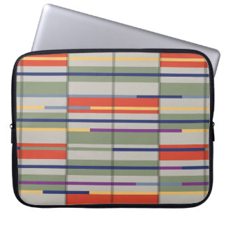 Very British graphic train and bus seat patterns Laptop Sleeve