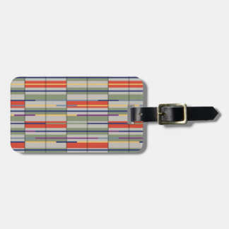 Very British graphic train and bus seat patterns Luggage Tag