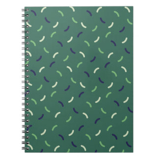 Very British graphic train and bus seat patterns Spiral Notebook