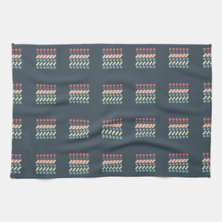 Very British graphic train and bus seat patterns Tea Towel