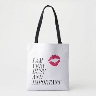 Very Busy and Important Tote Bag