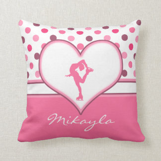 Very Cherry Polka-Dots Lots of Pink Figure Skater Cushion