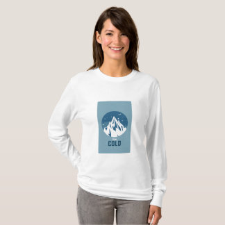 Very Cold Mountain With Snow T-Shirt