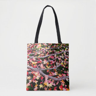 Very Colorful Maple Leaves Tote Bag