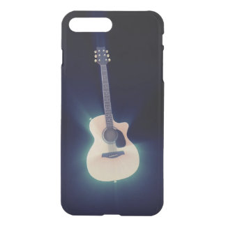 Very Cool Art Blue Glowing Guitar iPhone 7 Plus Case