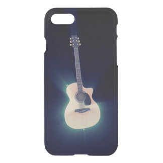 Very cool Blue Glowing Guitar iPhone 7 Case