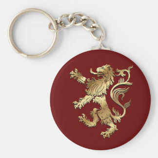 Very cool coat of arms style lion for gifting basic round button key ring