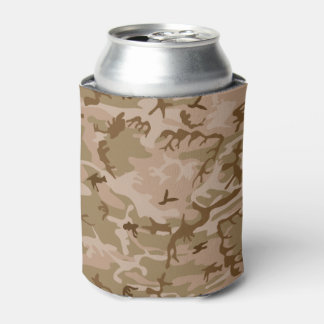Very Cool Military Style Desert Brown Camo Can Cooler