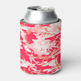 Very Cool Military Style Pink Camo Pattern Can Cooler