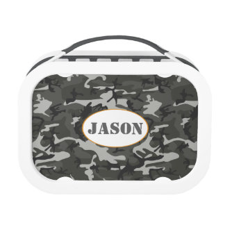 Very Cool Military Style Urban Camo With name tag Yubo Lunchboxes