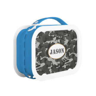Very Cool Military Style Urban Camo With name tag Yubo Lunch Box