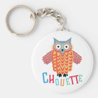 Very Cool Owl French Pun Key Ring